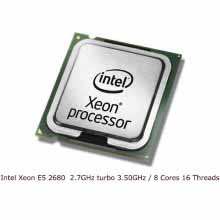 CPU Intel Xeon E5 2680 / 2.7GHz turbo 3.50GHz / 8 Cores 16 Threads