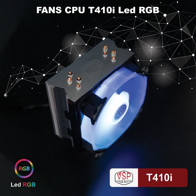 TẢN KHÍ RGB VSP T410I FULL CLIP AMD INTEL