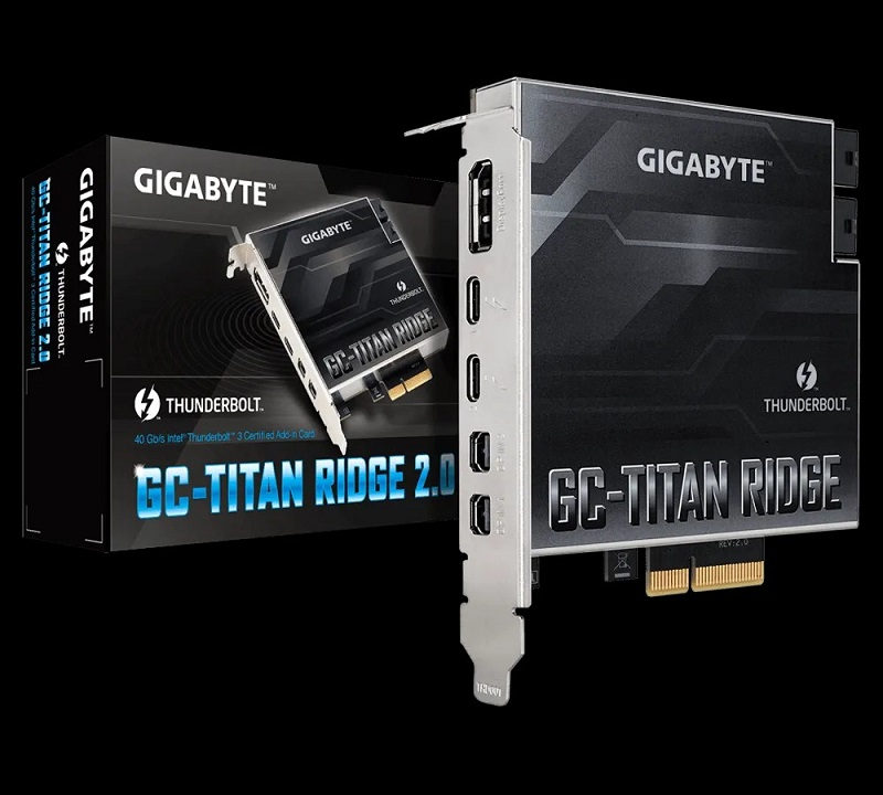 GIGABYTE GC-TITAN RIDGE 2.0 (thunderbolt 3 add-in card)