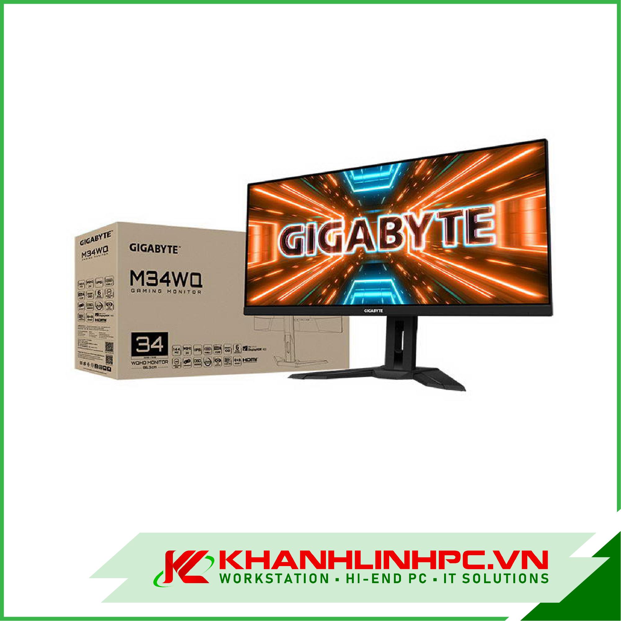 LCD GIGABYTE G34WQC- EK (34inch/QHD/VA/144Hz/1ms/350nits/HDMI+DP+USB/Loa/FreeSync/Cong) Chuyên game