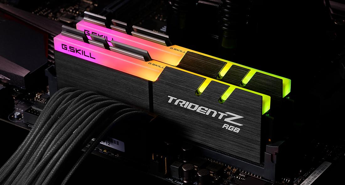 RAM GSKILL TRIDENTZ RGB 16GB (2X8GB) 3200MHZ CAS 16