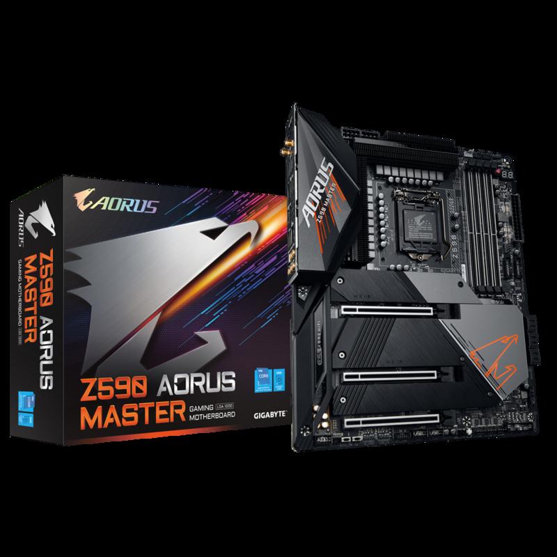 mainboard gigabyte z590 aorus master socket 1200