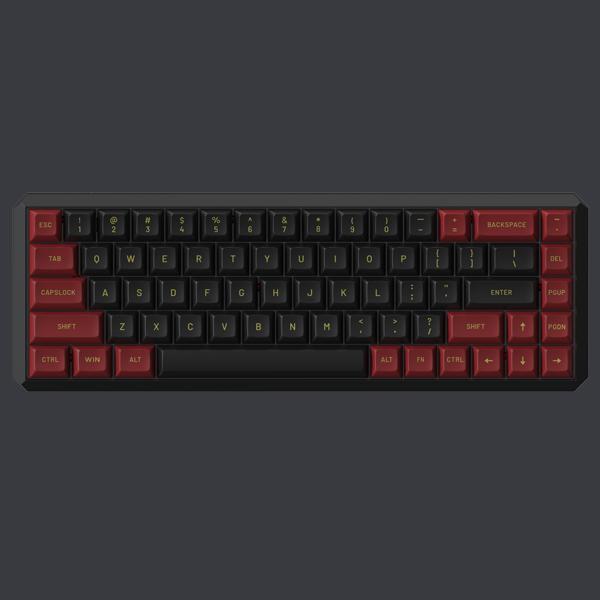 Bàn phím cơ Darmoshark-K5 Black/Red - Wireless Dual Mode