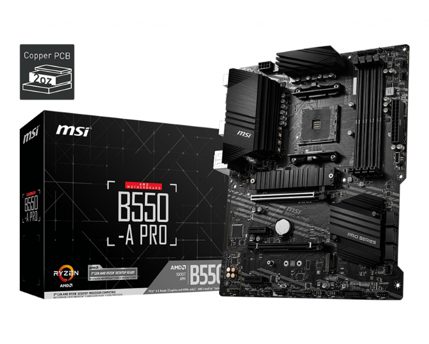 MAINBOARD MSI B550A - PRO SOCKET AM4